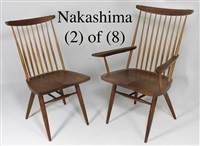 dining chairs (set of 8) by george nakashima