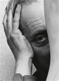 jean arp * joan miro (2 works) by arnold newman