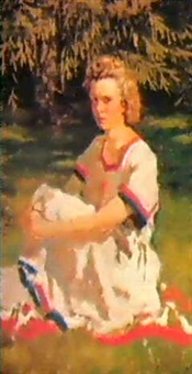 jeune femme au soleil by boris korniev