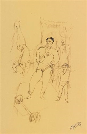 les acrobats by george grosz