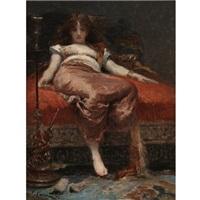 femme au narguilé by fernand cormon