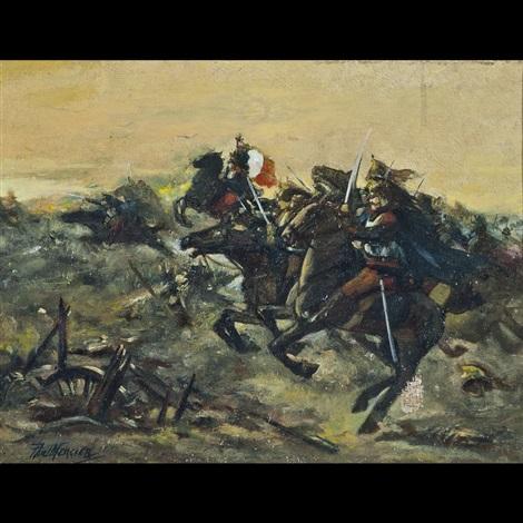 carica di cavalleria by paul marcier