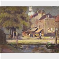 busy street scene by ulvi liegi (luigi levi)
