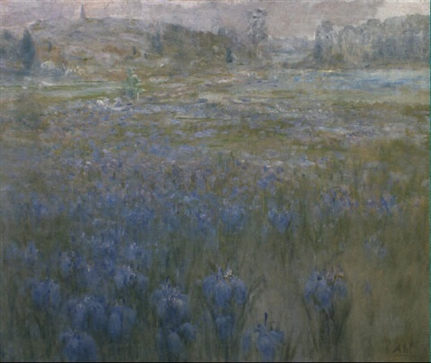 landscape with irises by henry hammond ahl