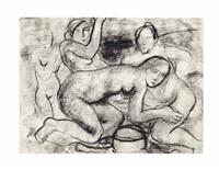 composition avec nus by paul delvaux