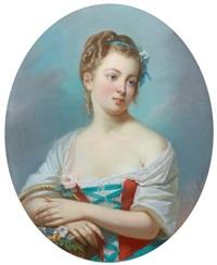 portrait d'une jeune fille en bergère by théodore fantin-latour
