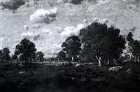 early autumn landscape by c.e. picault