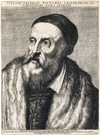portrait of a titian by agostino carracci