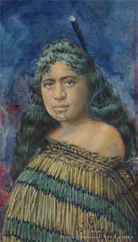 maori maiden by j. e. ward