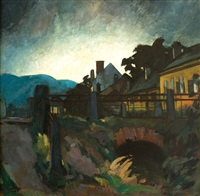 sunrise in baia mare by albert paál