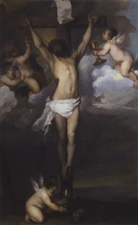 crucifixion by abraham van dyck