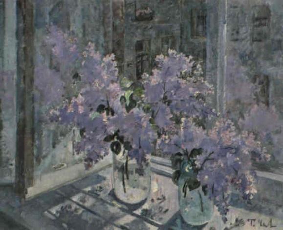 les lilas sur la fenêtre by tatiana tchepikova