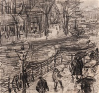 the prinsengracht near the westerkerk by isaac israels