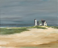 sandy hook light by anne packard