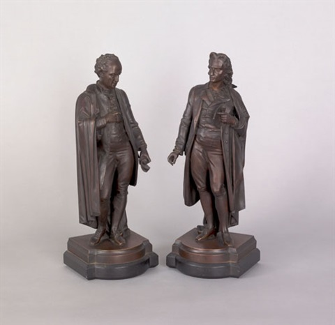 figures of scholars pair by pierre frederic aubert