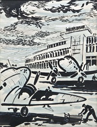 dublin airport by george campbell