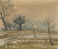 a winter's morning near wittlaer by maximilien (max) clarenbach