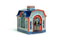 magic bank mechanical bank by j & e stevens co