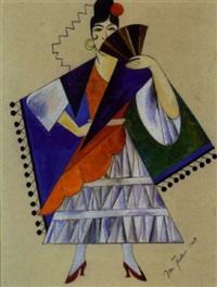 kostümentwurf für eine tanzerin by ignati ignatevich nivinsky