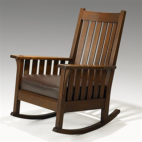 Phenomenal Rocking Chair No 451 By L J G Stickley On Artnet Creativecarmelina Interior Chair Design Creativecarmelinacom