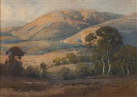 oaks in california landscape by percy gray