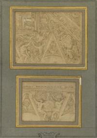 corniche et voussure de plafond (2 studies) by angelo michele colonna