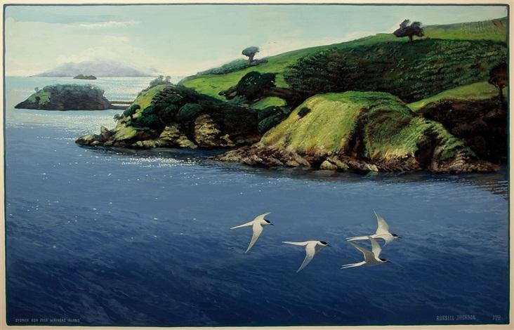 sydney ash over waiheke island by russell jackson