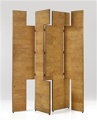 important four-panel screen by eileen gray