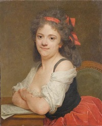 portrait of a lady seated by antoine vestier