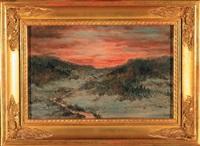 zachód słońca nad doliną by wilhelm karl räuber