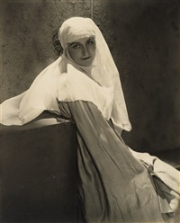nun in light by edward steichen