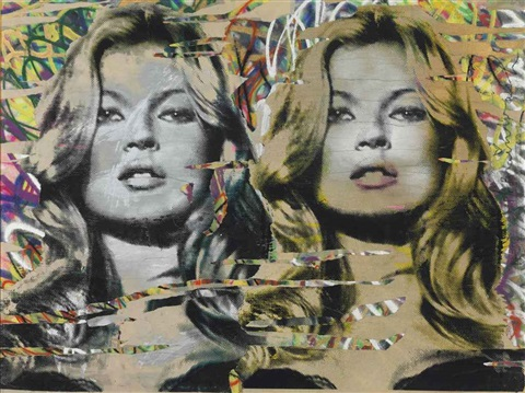 kate moss diptych by mr brainwash