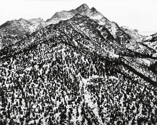 lone pine peak, sierra nevada, california by ansel adams