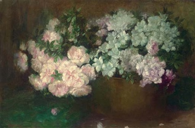 floral still life by walter gay