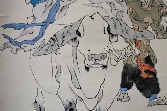 chinese scroll painting on paper by fan zeng on artnet