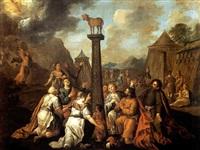 l'adoration du veau d'or by willem doudyns