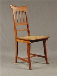 suite de six chaises en chêne, modèle tulipe (set of 6) by gustave serrurier-bovy
