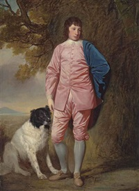 portrait of richard newman harding (1756-1808) by george romney