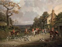 'the creme o'th chase', the essex hunt near epping by dean wolstenholme the elder