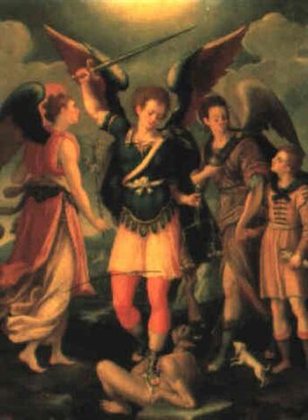der erzengel michael by antonio del pollaiuolo