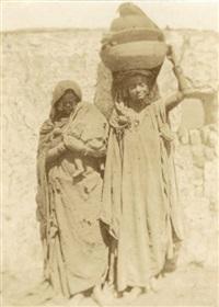 femmes barabra de nubie. temple en égypte (2 works) by ernest benecke