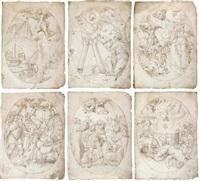 scenes from the apocalypse (14 works, 1 dbl-sided) by jan swart van groningen