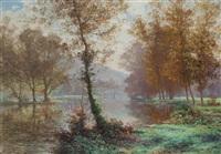 a quiet stretch of the river by albert gabriel rigolot