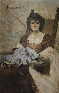 portrait of ella king-hall by henry charles seppings wright