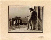 the dancer nikolska on the acropolis by nelly (elli seraidari)