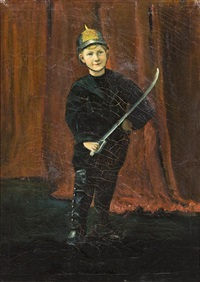 portrait of walter mitchell, the artist's nephew by ernest lawson