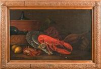 nature morte au homard by jan frans van son
