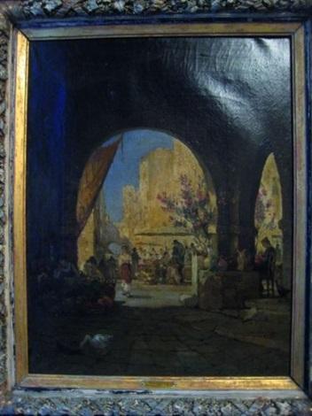 scène de marché méditerraneen by jean d alheim