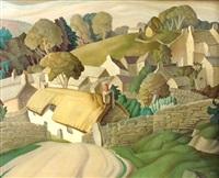 village landscape by harry epworth allen