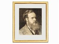 portrait of the famous swiss physician dr. paul scheurer by albert anker